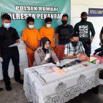 Diduga Miliki Narkotika Jenis Sabu Dan Pil Ekstasi, Polsek Rumbai Amankan Dua Pria.